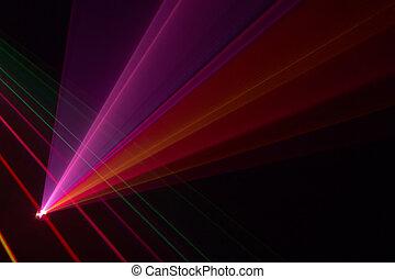 farbe, balken, laser