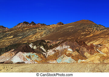 farbe, berge, death valley
