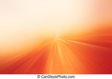 farbe, bewegung, blur., hintergrund, orange
