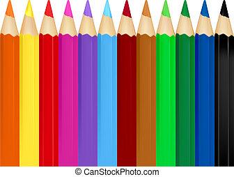 farbe, bleistifte, hintergrund