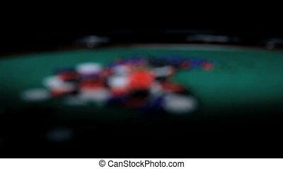 farbe, chips., poker.