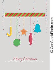 farbe, dekoration, weihnachten, abbildung