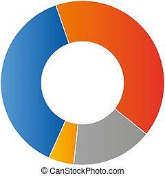 farbe, diagramm, vektor, tabelle, abbildung