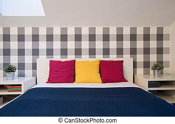 Farbe, Doppelgänger, Bett, Kissen