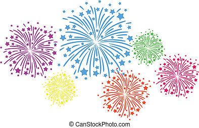 farbe, firework