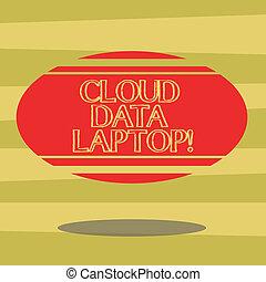 farbe foto, photo., laptop., zeichen, form, leer, oval, schwimmend, schatten, wolke, text, begrifflich, voll, ausstellung, internet, verbunden, streifen, horizontal, server, daten, datacenter