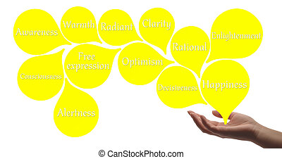 farbe, -, gelber , therapie, heilung, energie