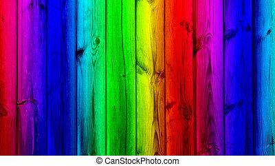 farbe, hölzern, hintergrund, wand, zuckerl