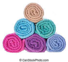 farbe, handtuch