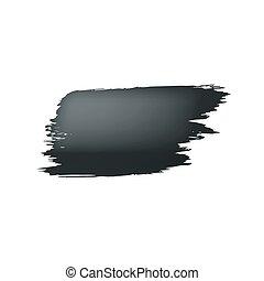 farbe, hintergrund., schlag, schwarz, bürste, weißes