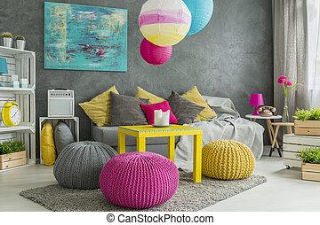 farbe inneneinrichtung buero zimmer pfirsich hell. Black Bedroom Furniture Sets. Home Design Ideas