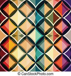 farbe, mosaik, seamless, muster