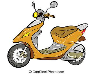 farbe, motorroller