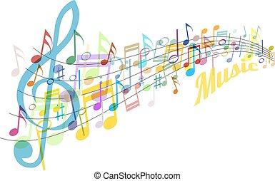 farbe, musik, plakat