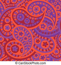 farbe, muster, rotes , träume, orange, seamless, hintergrund, wiederholung, kastanienbraun, purple., blast-paisley, rosa