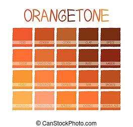 farbe, orangetone, ton