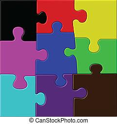farbe, puzzel