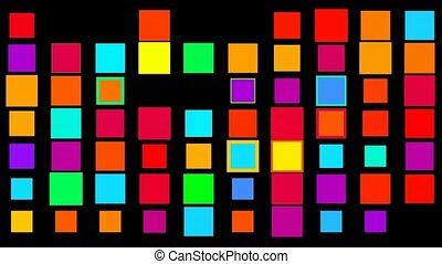 farbe, quadrat, matrix, hochtechnologisch, hintergrund.