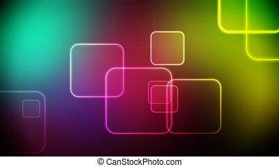 farbe, quadrate, schleife