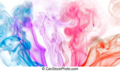 farbe, rauchwolken, 04
