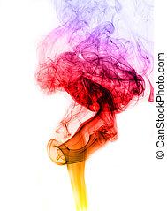 farbe, rauchwolken