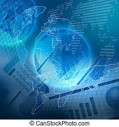farbe, schaubilder, global, finanziell, tabellen