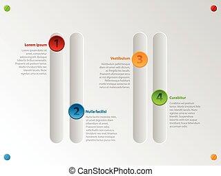 farbe, schieber, infographic, optionen, kühl