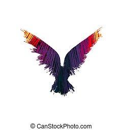 farbe, silhouette, rabe