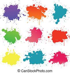 farbe, splat, sammlung