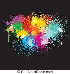 farbe, spritzer
