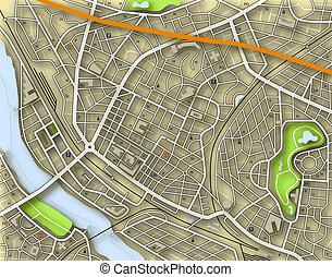 farbe, stadtlandkarte