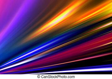 farbe, straße, magisches, nacht