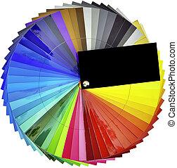 farbe swatch, probeflasche