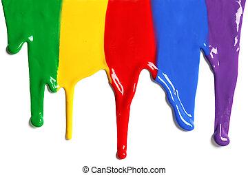 farbe, tropfender