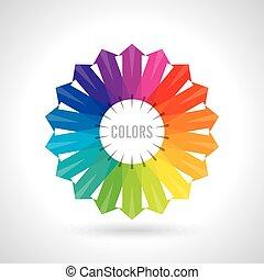 farbe, vektor, abbildung, wheel.