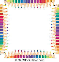 farbe, vektor, bleistifte, abbildung