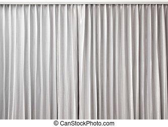 farbe, vorhang, grau