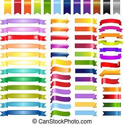 farbe, web, bänder, pfeile, groß