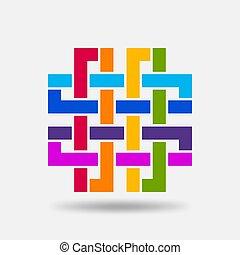 farben, knoten, solomon, regenbogen-symbol