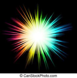 farben, licht, funkeln, regenbogen