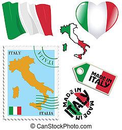 farben, national, italien