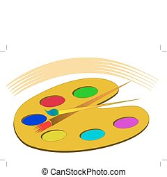 farben, palette, isoliert, troddel