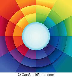 farben, regenbogen, abstrakt, vektor, hintergrund