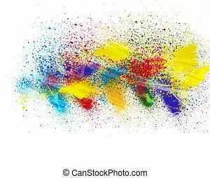 farben, spritzen