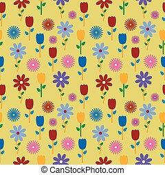 farbenfreudige blumen, hintergrund, pattern.