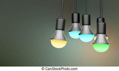 farbenfreudiges licht, birnen