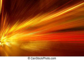 farbenfreudiges licht, explosion
