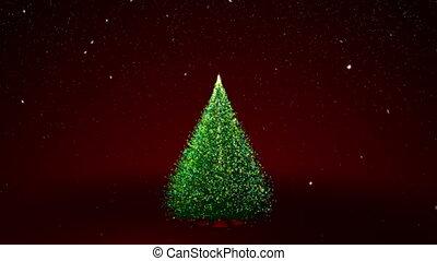 farbować światła, drzewo, boże narodzenie
