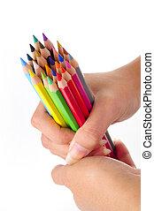 farbować ołówek