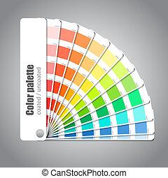 farbować paletę, szary, tło, przewodnik